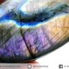 ลาบราดอไลท์ขัดมันเกรด A สีชมพูหายาก Labradorite ขัดมันเหลือบทั้ง 2 ด้าน (38G)