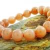 ▽สร้อยข้อมือ มูนสโตนสีส้ม (Moonstone) 11.5 mm.