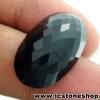พลอยนิล (Black Spinel)ทรงรี มีตำหนิ - 29.45ct.