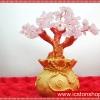 ต้นไม้มงคลโรสควอตซ์ Rose Quartz ถุงทอง (size S)