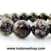▽สร้อยหิน สโนว์เฟลคออปซีเดียนสีน้ำตาล (Brown Snowflake Obsidian) 12.5mm.