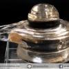 สโมกกี้ควอตซ์แกะรูปศิวลิงค์คัม พร้อมฐานกระจก (14.7g)