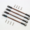 SPRING STEEL FRONT/REAR ANTI-CLOCKWISE THREAD LINK ROD - 4PCS SET (FOR 1/10 E-REVO, SUMMIT, REVO, E-REVO 3.3, 1/10ELECTRIC AND NITRO CAR)