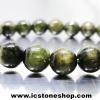 สร้อยหิน ทัวร์มาลีนสีเขียว(Green Tourmaline) เกรด A 7.5mm.