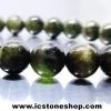 สร้อยหิน ทัวร์มาลีนสีเขียว(Green Tourmaline) 8mm.