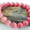 ▽สร้อยหิน โรโดโครไซท์ (Rhodochrosite) เกรดA+ สีสดมาก