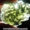 สะเก็ดดาวสีเขียว โมลดาไวท์ (Moldavite) 17.97ct.