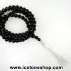 ▽ประคำ 108 เม็ด ออนิก (Black Onyx) 8.5mm.