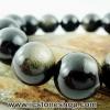 ▽สร้อยข้อมือ ออบซิเดียน (gold sheen obsidian) 16mm.