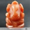 องค์พระพิฆเนศ แกะจากหินอเวนจูรีนสีส้ม (Orange Aventurine) จากประเทศอินเดีย(20g)