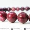 ▽สร้อยหิน ทัวร์มาลีนสีแดง (Red Tourmaline) เกรด A 7.5mm.