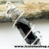 ▽จี้สโมกี้ควอตซ์สีเข้ม black smokey quartz (1.6g)