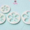 ชุดพิมพ์กดคุกกี้ / ฟองดอง รูปดอกไม้ 4 ชิ้น