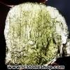 สะเก็ดดาวสีเขียว โมลดาไวท์ (Moldavite) 29ct.