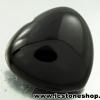 พลอยนิลทรงหัวใจ (Black Spinel) - 145.9ct.