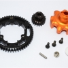 ALUMINIUM GEAR ADAPTER+STEEL SPUR GEAR 54T+MOTOR GEAR 18T - 1SET