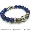 ▽สร้อยหิน ลาพิส ลาซูลี่+ไพไรต์ (Lapis Lazuli+pyrite) 8 mm.