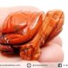 เรดแจสเปอร์ Red Jasper แกะเป็นรูปเต่ามงคล (33g)