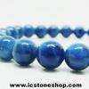 ํ▽สร้อยหิน อะพาไทต์ (Blue Apatite) 7mm.