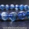 ▽สร้อยหิน ไคยาไนต์ชนิดใส (Kyanite) 7mm.