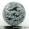 ▽สโนว์เฟลค ออปซีเดียน (Snowflake Obsidian) ทรงบอล 4 cm.