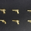 1/12 Realistic Weapon Series - Realistic Handgun (6 Types) Gold Coating ver. Plastic Model(Pre-order)