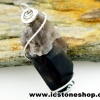 ▽ลจี้สโมกี้ควอตซ์สีเข้ม black smokey quartz (5.4g)