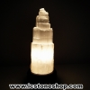 โคมไฟ เซเลไนต์ Selenite ธรรมชาติทรงเจดีย์ (33cm.- 3.1Kg)