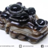 หินตาอาเกต-หัวมังกร มีเจาะรูทะลุ(Eye Agate) (27g)