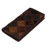 HM-8090 กระเป๋าสตางค์ ใบยาว หนังปั้มลายตัดต่อ