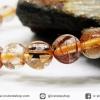 ▽สร้อยหิน ไหมนาค-Copper Rutillated Quartz (6.5mm.)