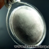 ▽จี้โอเคไนต์ หินปุยนุ่น Okenite เข้ากรอบอะคริลิคกันน้ำ(4g)