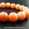 ▽สร้อยข้อมือ มูนสโตนสีส้ม (Moonstone) 12 mm.