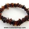 ▽สร้อยข้อมือ อำพันบอลติก (Brown) Genuine Baltic Amber (12g)