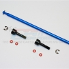 ALUMINIUM MAIN SHAFT WITH HARD STEEL ENDS – 1PC SET (FOR TAMIYA M1025 HUMMER, DF01)