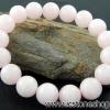สร้อยหิน พิลค์แมนกาโนแคลไซต์ (Pink Mangano Calcite) 12mm.