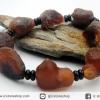 สร้อยข้อมือ อาเกตทะเลทรายโกบีสีน้ำตาลแดง (Gobi Agate) 53g