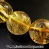 ▽สร้อยข้อมือ ไหมทอง (Rutilated Quartz ) 11 mm.