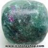 ทับทิม-ฟัชไซต์ Ruby-Fuchsite ขัดมัน ขนาดพกพา (19g)