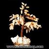 ต้นไม้มงคล หินมูนสโตนสีส้ม-ควอตซ์ ใช้เสริมฮวงจุ้ย โต๊ะทำงาน (206g)