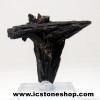 ไคยาไนท์สีดำ Black Kyanite (18g) พร้อมฐานกระจก