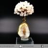ต้นไม้มงคลหินแท้โรสควอตซ์-ฐานควอตซ์ ใช้เสริมความรัก ความเข้าใจ (160g)