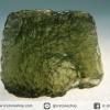 สะเก็ดดาวสีเขียว โมลดาไวท์ (Moldavite) 8.2ct.