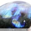 ลาบราดอไลท์ขัดมันเกรด A Labradorite ขัดมันเหลือบทั้ง 2 ด้าน (84G)