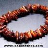 ▽สร้อยข้อมือ อำพันบอลติก (Brown) Genuine Baltic Amber (8g)