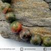 สร้อยหิน ยูนาไคต์ (Unakite) 6.5mm