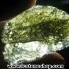 สะเก็ดดาวสีเขียว โมลดาไวท์ (Moldavite) 16.91ct.