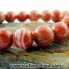 ▽สร้อยหิน เรดอาเกต (Red Agate) 11.5mm.