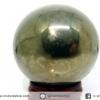 ํ▽ไพไรต์ (Pyrite) ทรงบอล หินทรงกลม เกรด A (5 cm, 332g.)