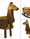Love Toys Vol.3 Sankaku Mokuba Wooden horse 1/12 Unpainted Assembly Kit(Pre-order)